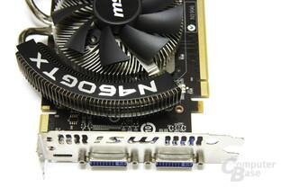 GeForce GTX 460 Cyclone Anschlüsse