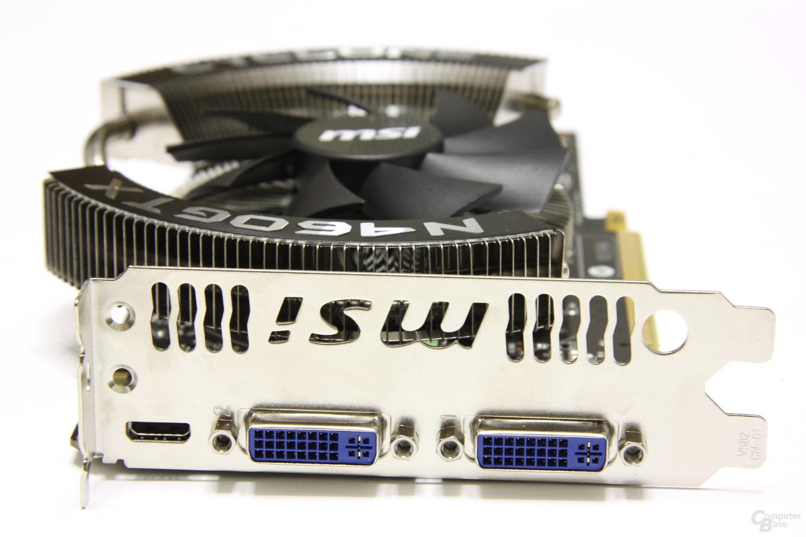 GeForce GTX 460 Cyclone Slotblech