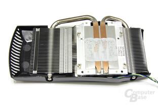 GeForce GTX 460 TOP Kühlerrückseite