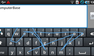 Samsung Touchwiz: Tastatur (Swype)