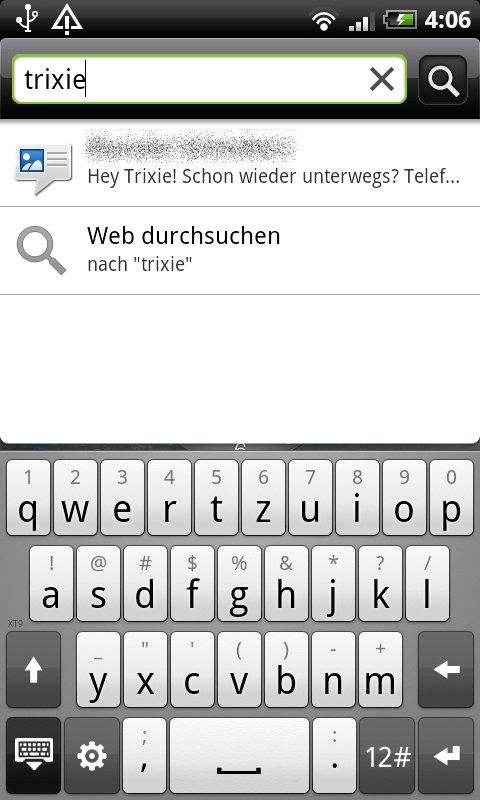 HTC Sense: Tastatur