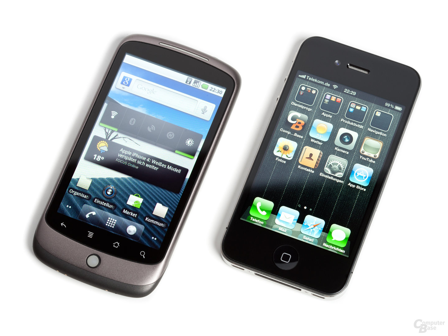 Google Nexus One und iPhone 4