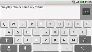Motorola Motoblur: Tastatur