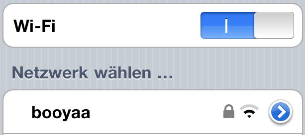 iOS 4.1: Schaltflächen usw.