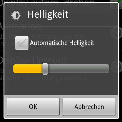 Android 2.2: Schaltflächen usw.