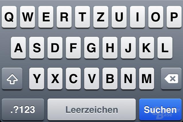iOS 4.1: Tastatur