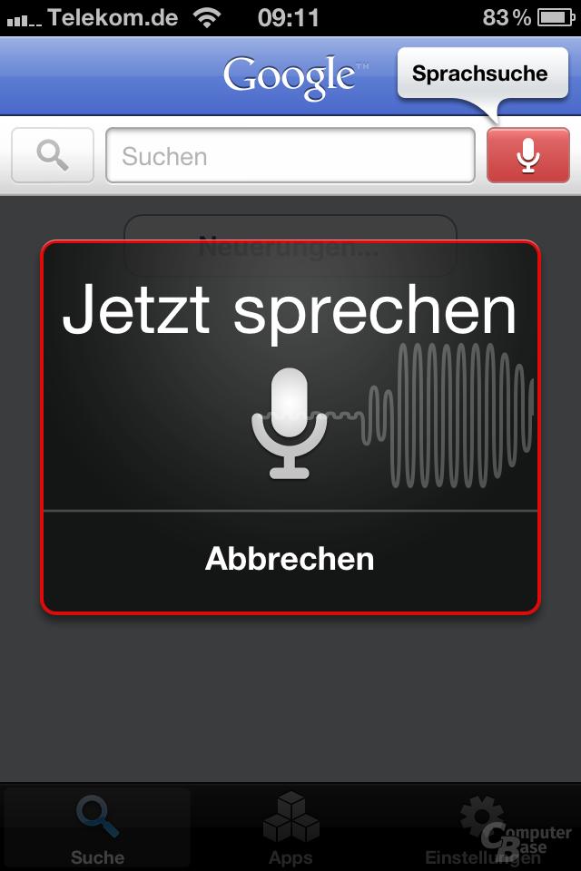 iOS 4.1: Spracheingabe