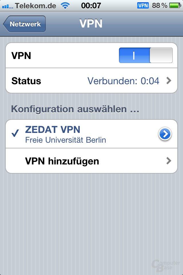 iOS 4.1: VPN