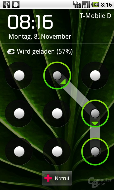 Android 2.2: Display-Sperre mit Muster