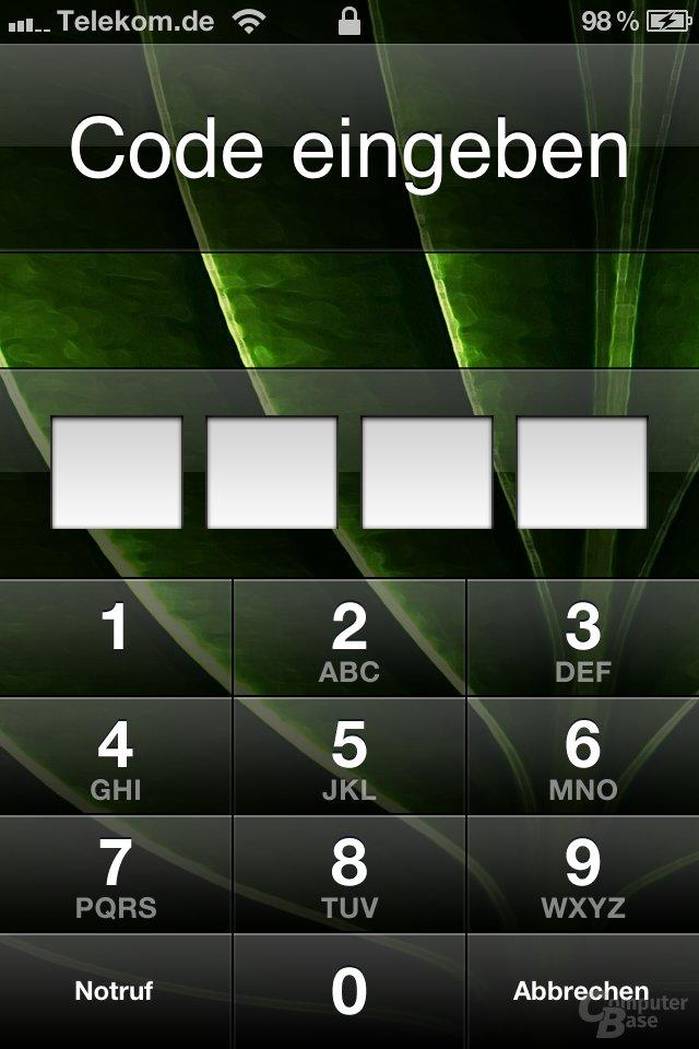 iOS 4.2: Display-Sperre mit Code