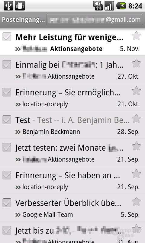 Android 2.2: Sichere Google-Mail-App
