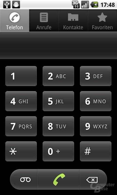 Android 2.2: Telefon-Tastenfeld