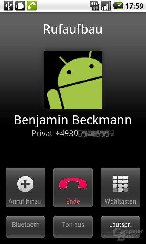 Android 2.2: Während des Anrufs