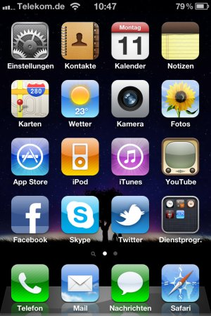 iOS 4.1: Home-Screen