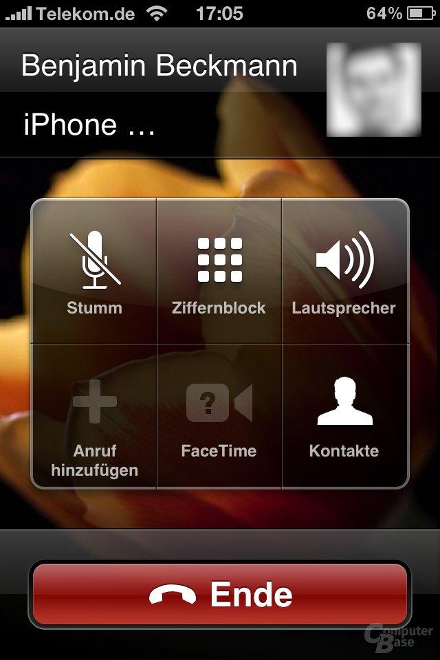 iOS 4.1: Während des Anrufs