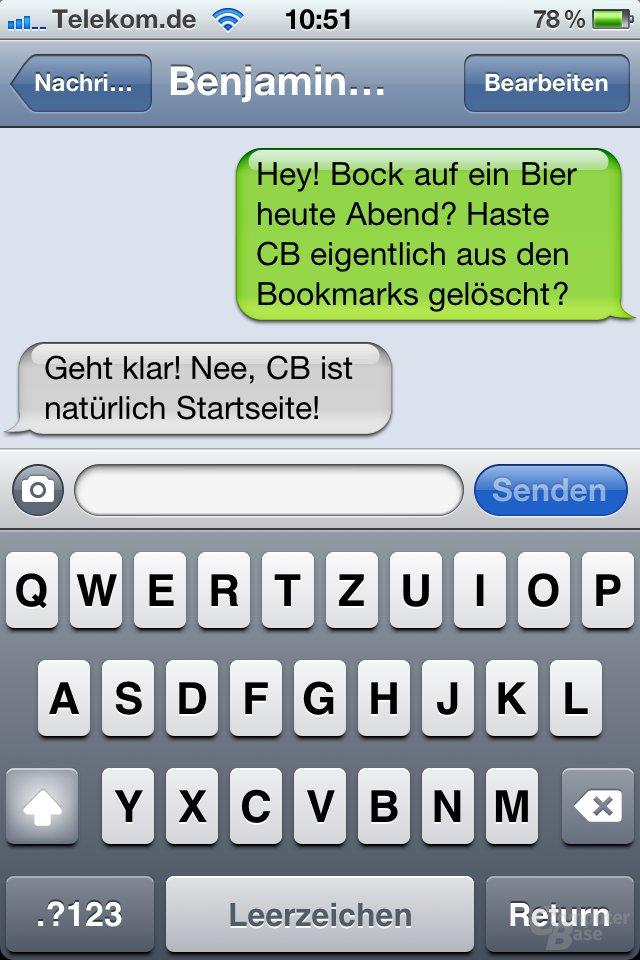 iOS 4.1: SMS-App