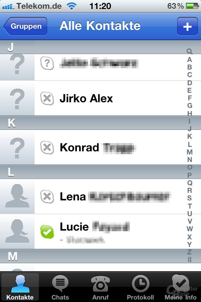 iOS 4.1: Skype