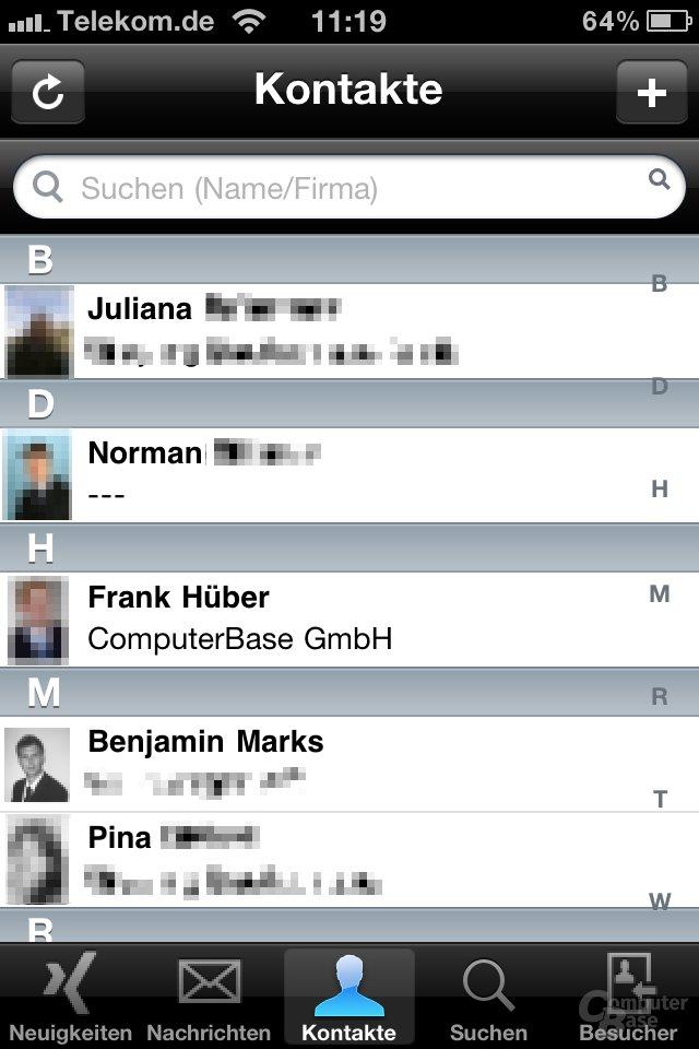 iOS 4.1: Xing