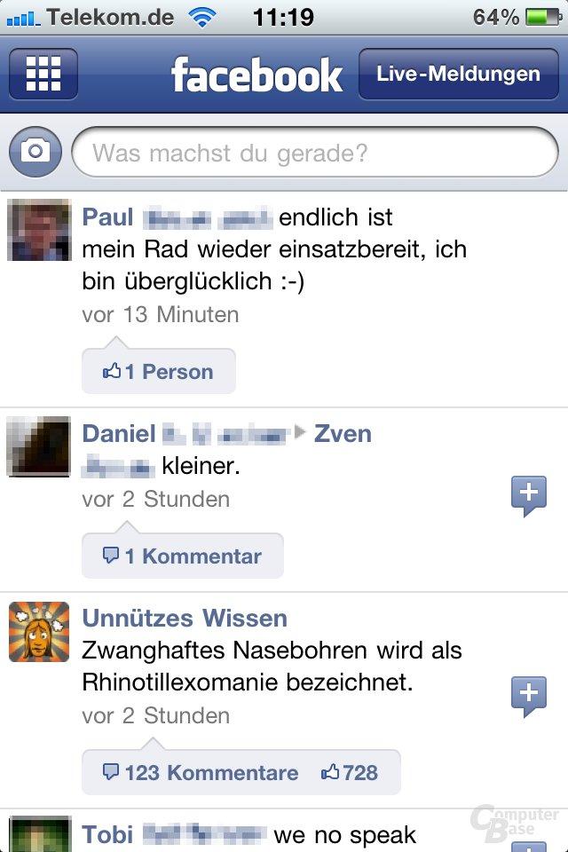 iOS 4.1: Facebook