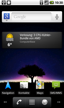 Android 2.2: Home-Screen