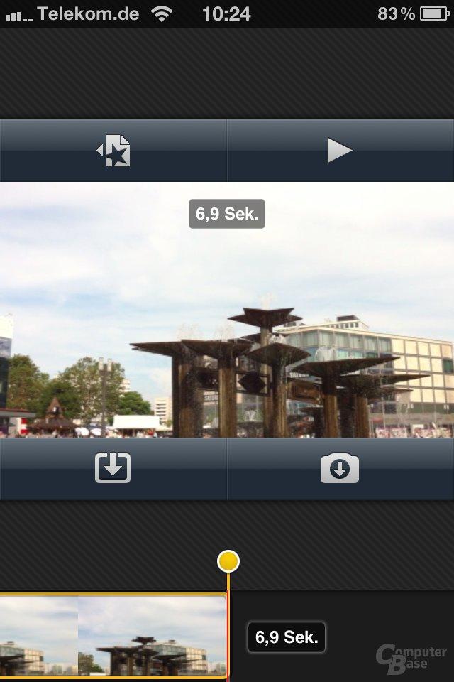 iOS 4.1: iMovie