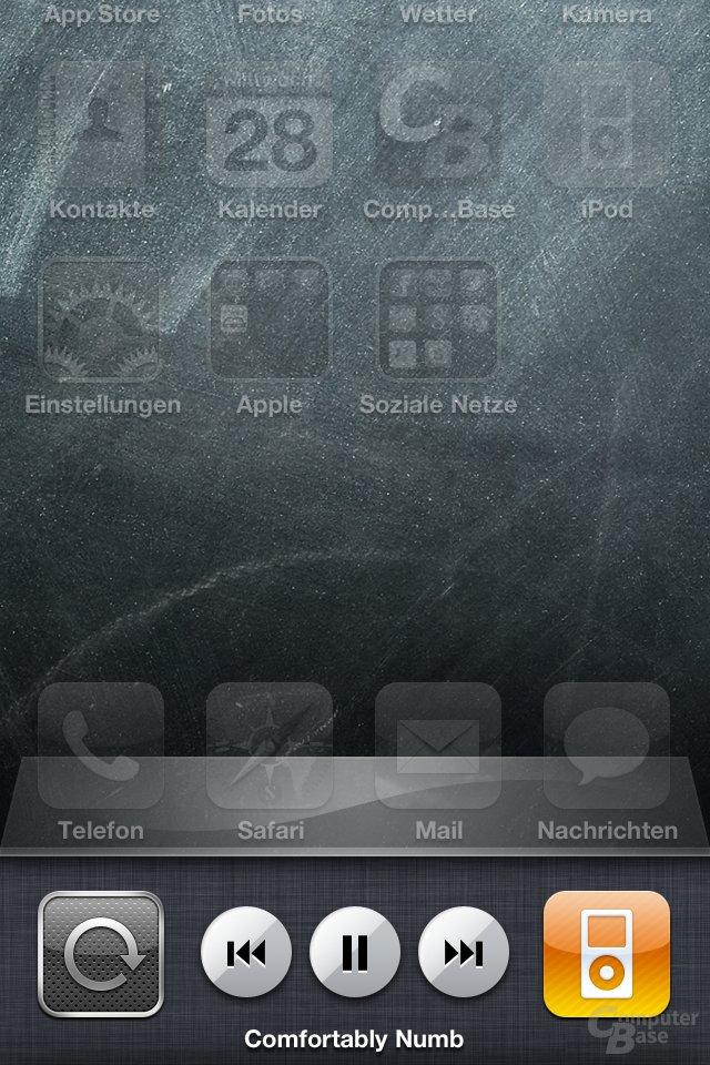 iOS 4.1: iPod-Steuerung in der Multi-Tasking-Leiste