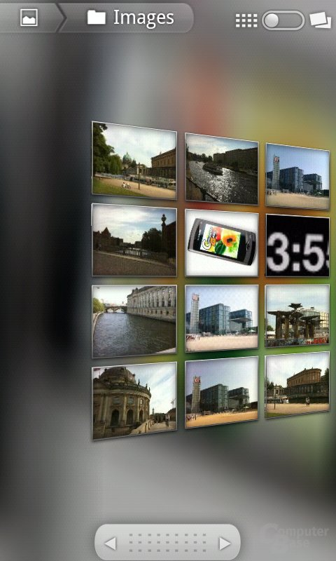 Android 2.2: 3D-Galerie