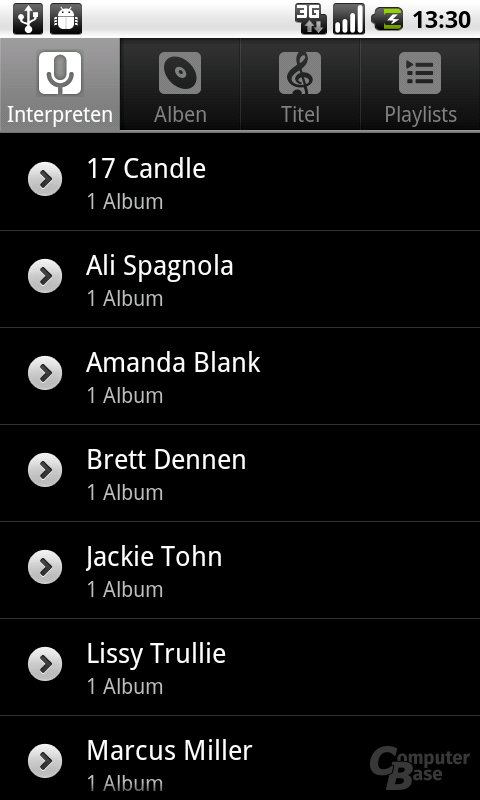 Android 2.2: Musik