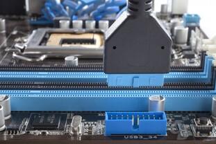 Asus P7P55/USB3 – Front-Panel-Anschluss für USB 3.0