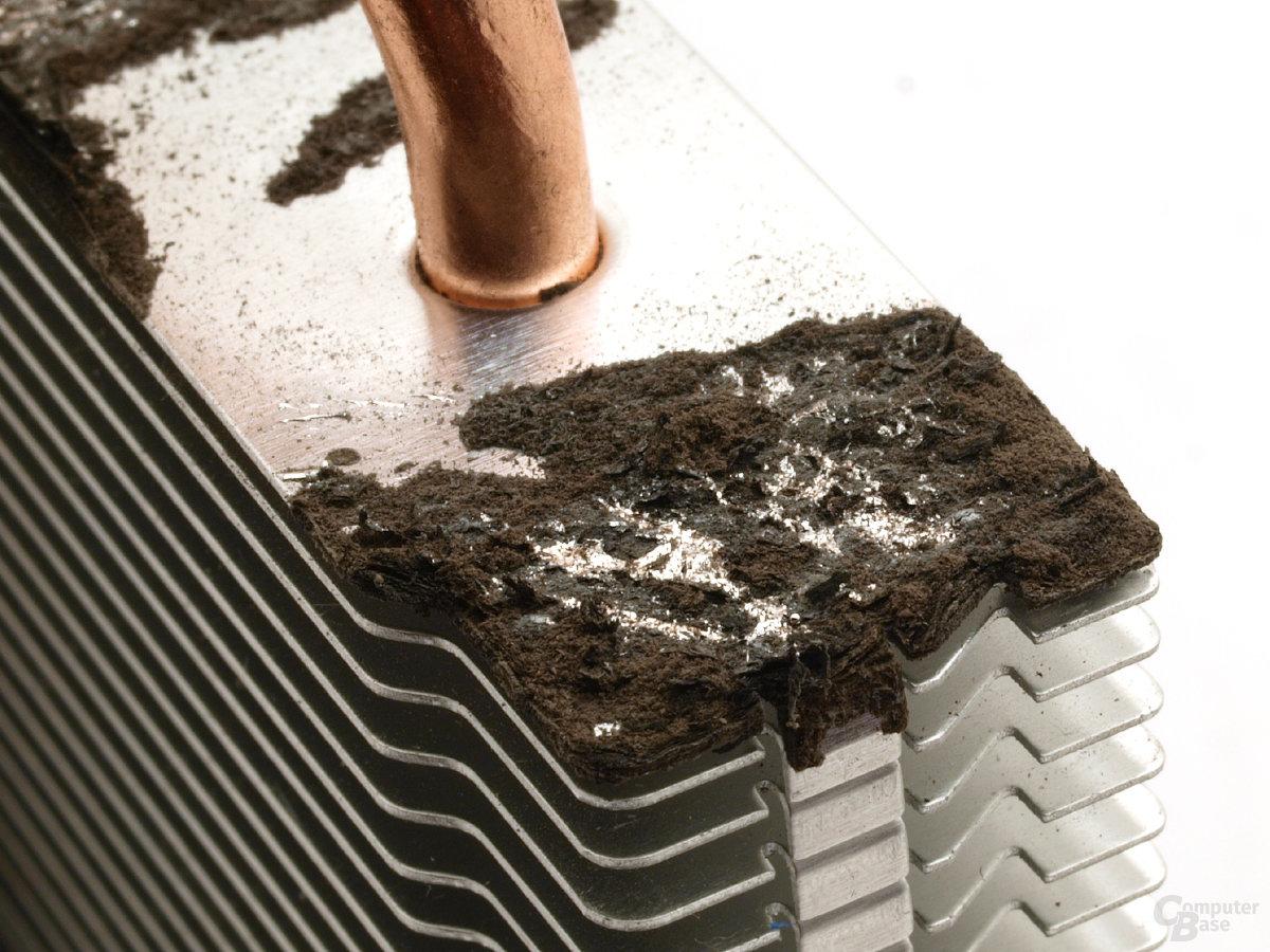 Korrodiertes Aluminium nach einigen Minuten