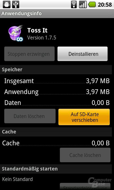 App auf SD-Karte verschieben