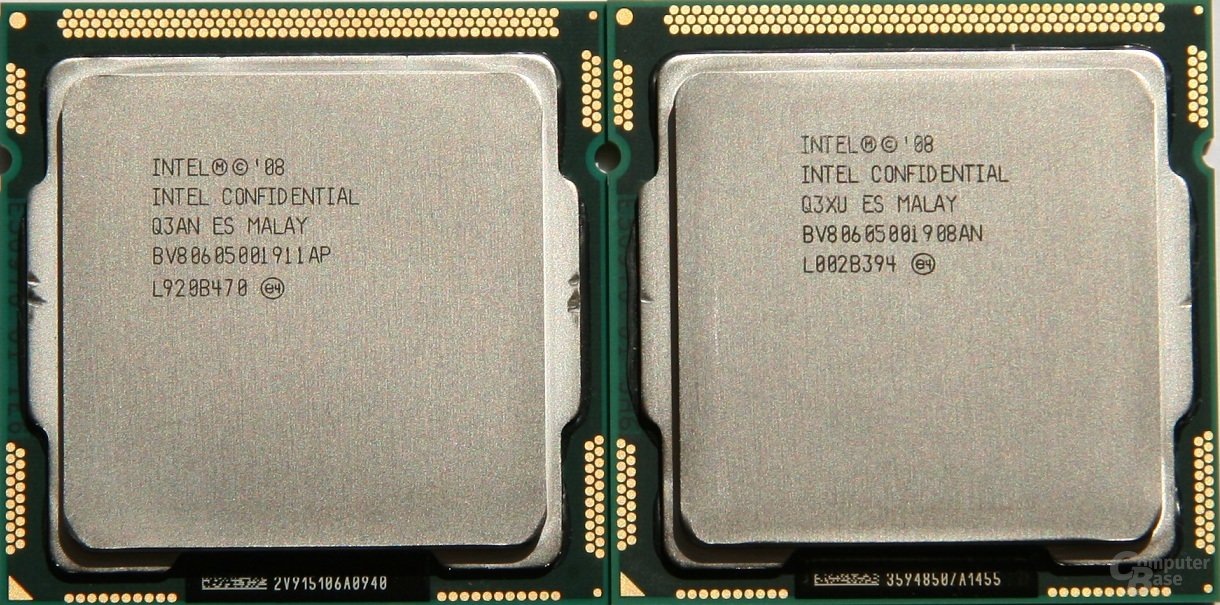 Intel Core i5-750 (links) und 760