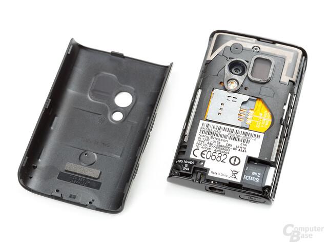 Xperia X10 mini, geöffnet