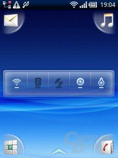 Xperia X10 mini: Energiesteuerung-Widget