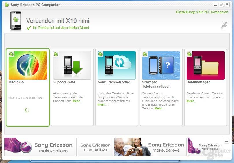 Sony Ericsson PC Companion für Windows