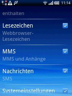 Xperia X10 mini: App Backup & Restore