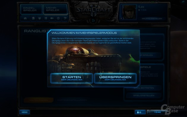 WoL – Einstieg in den Mehrspieler-Modus