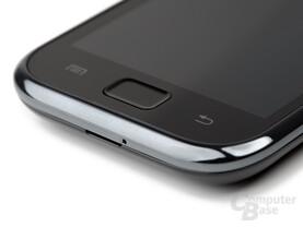 Samsung Galaxy S Funktionstasten (Ausschnitt von rechts)