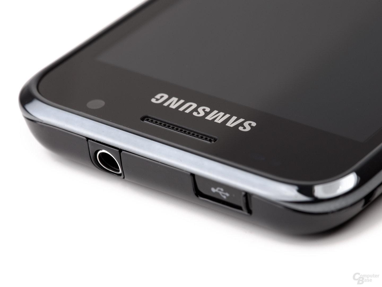 Samsung Galaxy S von oben (Ausschnitt)