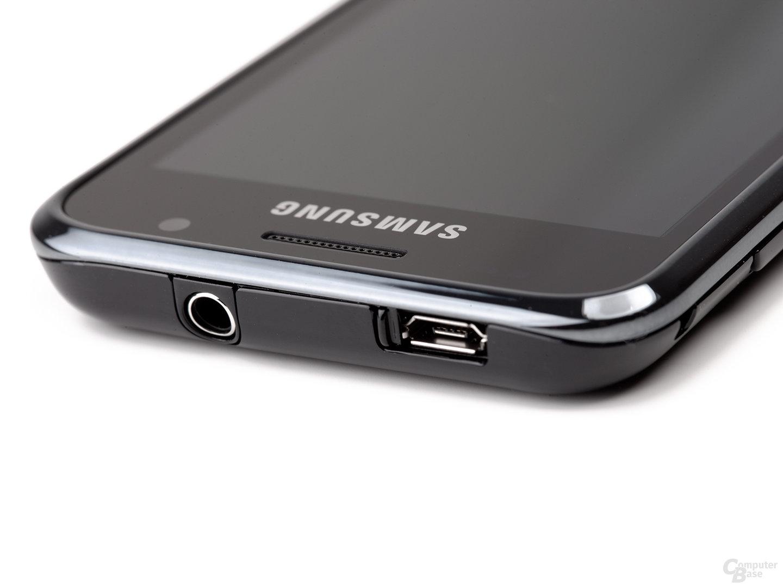 Samsung Galaxy S von oben, flach