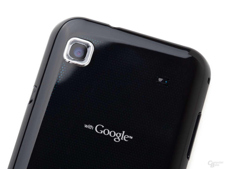 Samsung Galaxy S: Kamera und Lautsprecher (Ausschnitt, frontal)