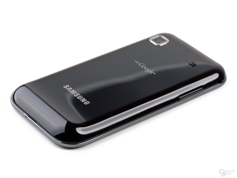 Rückseite des Samsung Galaxy S, flacher