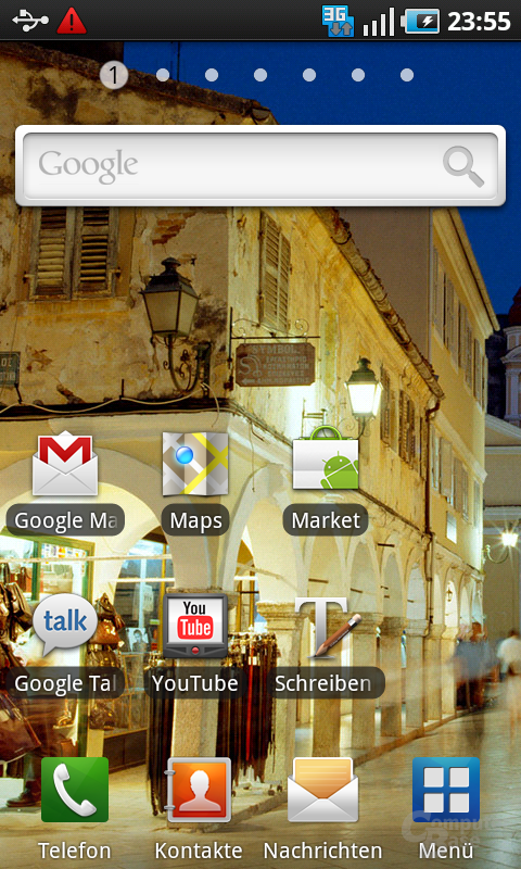 Samsung Galaxy S: Home-Screen 1