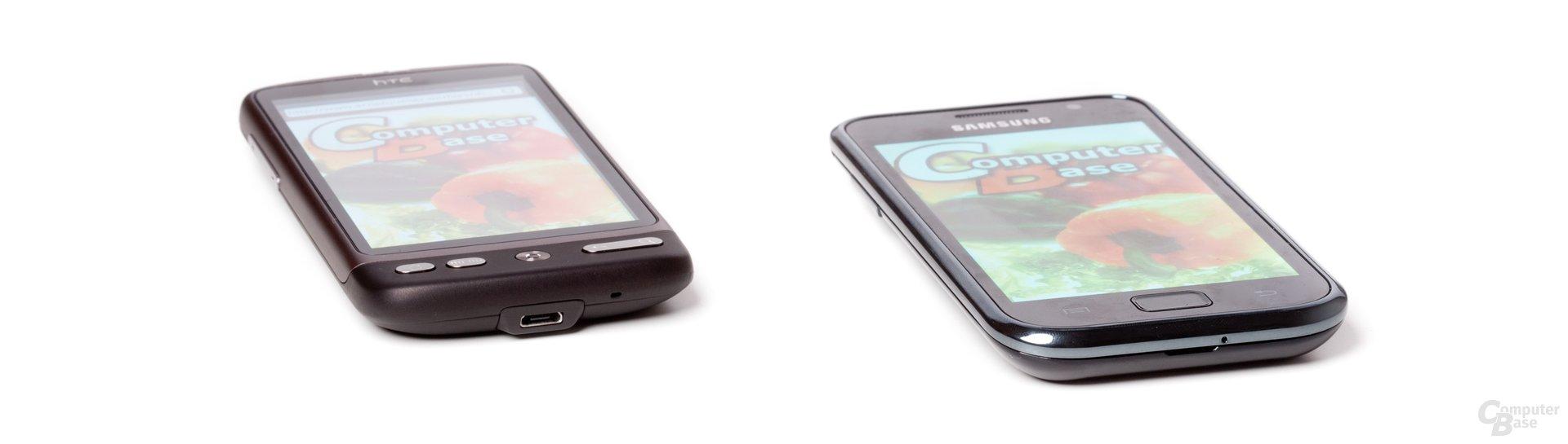 Simuliertes Sonnenlicht (HTC Desire, Samsung Galaxy S I9000)