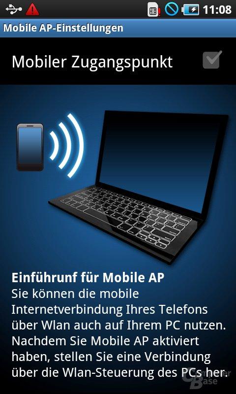 Samsung Galaxy S: WiFi-Tethering