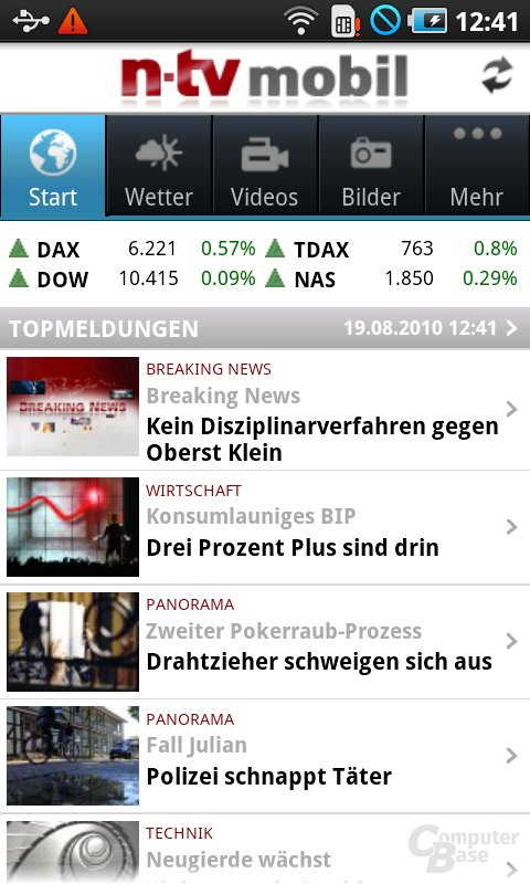 Neue n-tv-App in Firmware JM1
