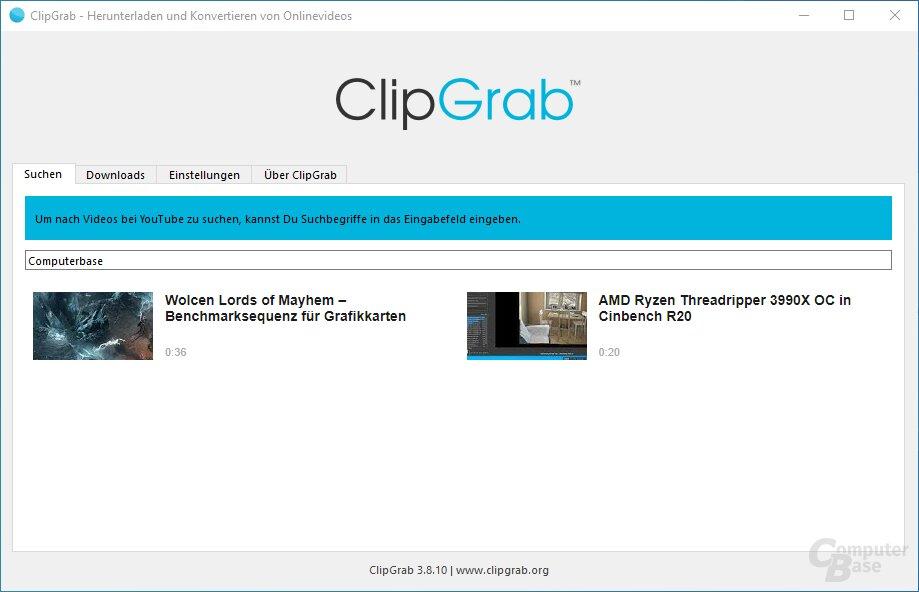 ClipGrab – Oberfläche