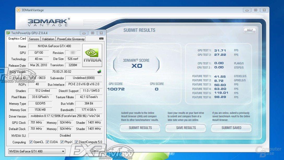 Ergebnis neue GTX 480 (512 SP)