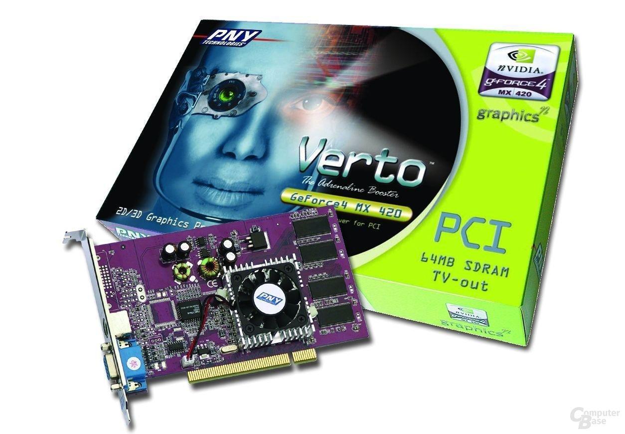 PNY Verto GeForce4 MX 420 PCI