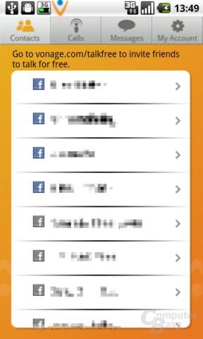 Vonage Kontaktliste